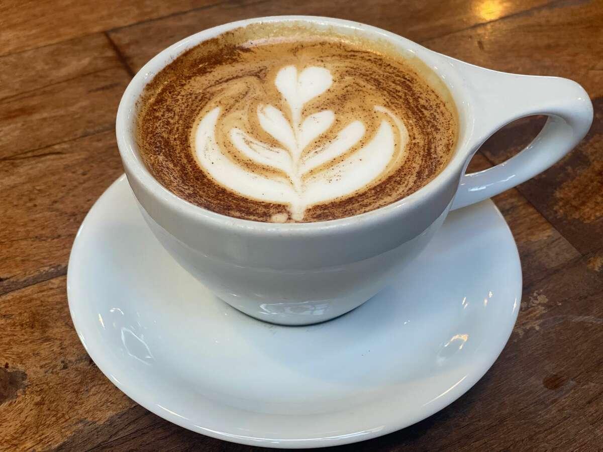 Halcyon Fall Drink: Not Your Basic Pumpkin Ingredients: Double shot of espresso, pumpkin pie puree, milk foam, cinnamon and nutmeg. Price: $5