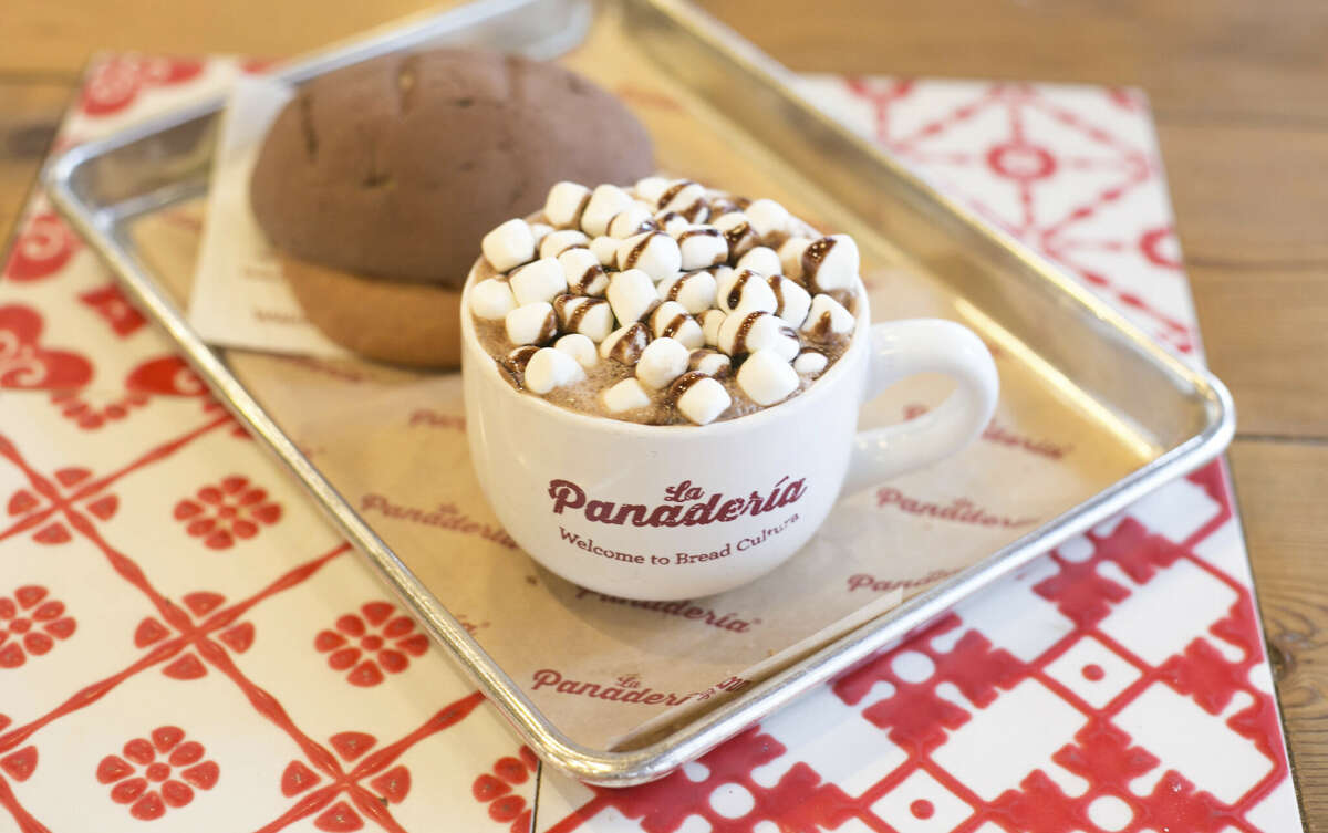 La Panaderia Fall drink: Mexican Hot Chocolate Ingredients: Mixed with chocolate Abuelita and other traditional Mexican ingredientslike
