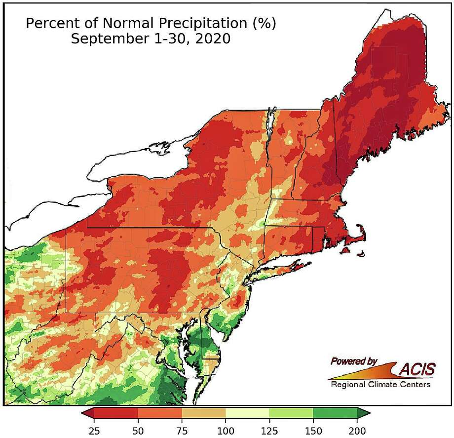 September precipitation ranged from less than 25 percent of normal to near normal for a majority of the Northeast. Photo: Northeast Regional Climate Center