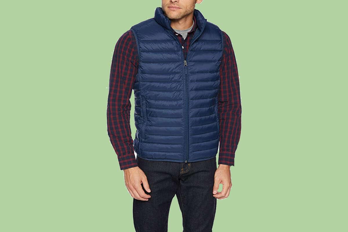 Amazon Essentials Men's Lightweight Water-Resistant Packable Puffer Vest, Starting at $18.83