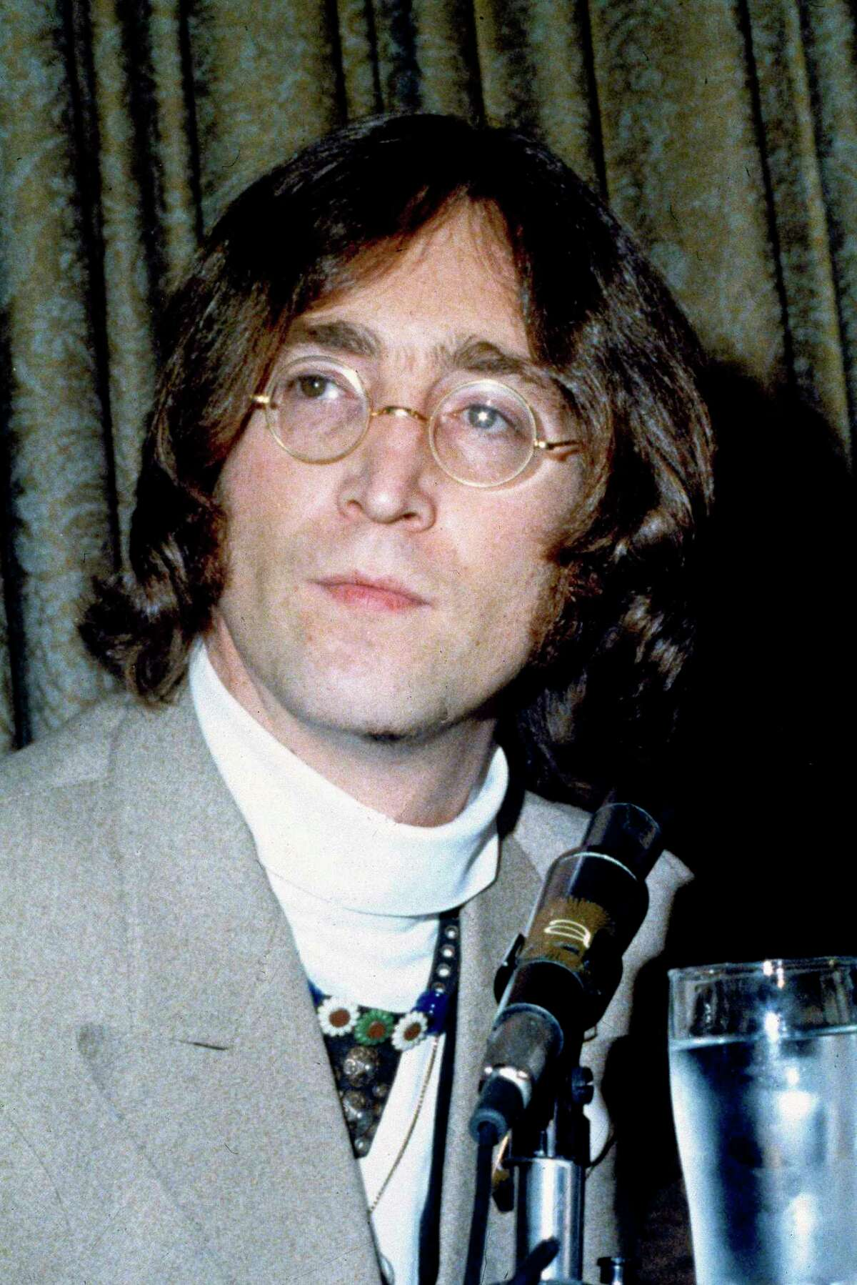 John Lennon is seen at a news conference in 1968. The Friday, Oct. 9, concert was in planning for 14 months as a live concert in Fairfield County, said Rosenay in an email exchange - long before COVID-19 pushed so many such events into a virtual space. The 7 p.m. concert,