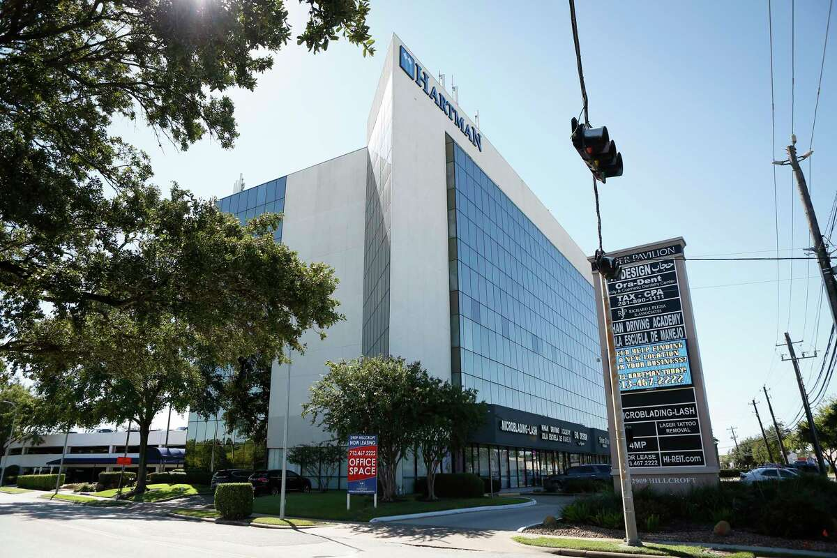 Hartman Income REIT, a multi-tenant office building at 2909 Hillcroft Wednesday, Sept. 30, 2020, in Houston.