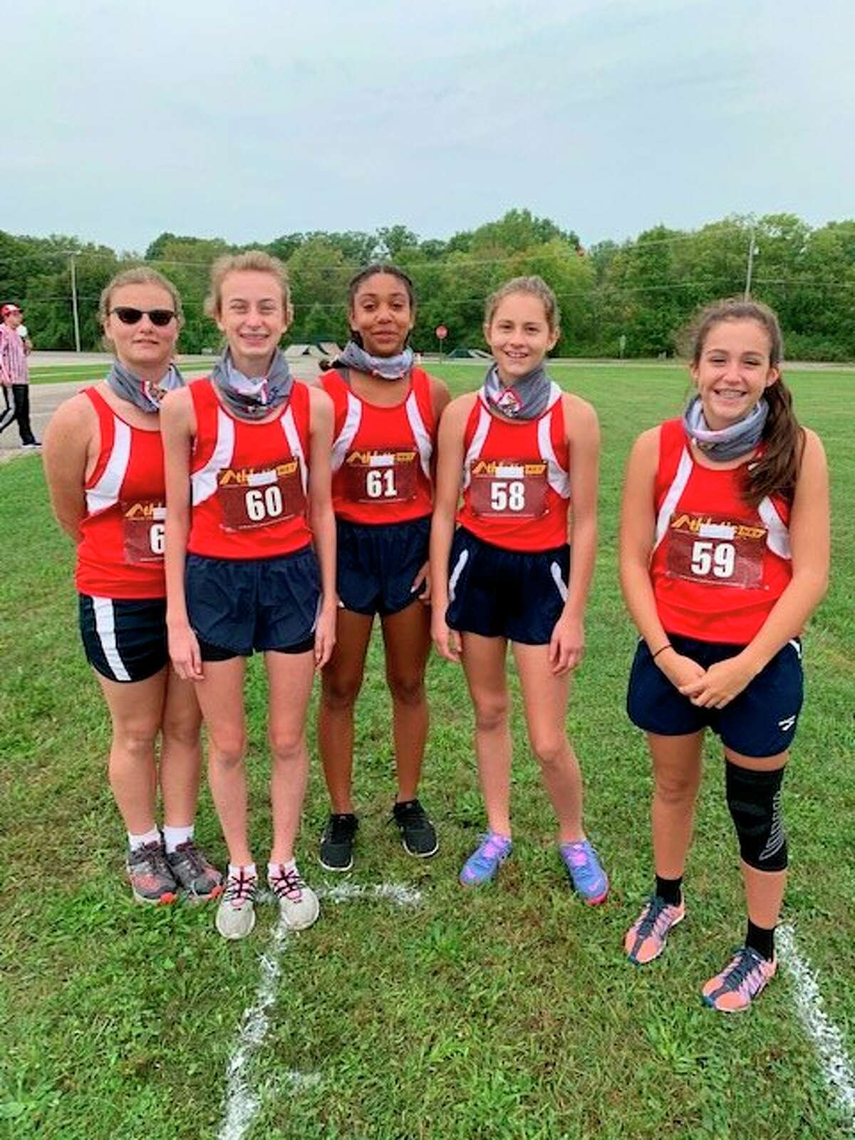 In this photo, Amelia Thompson, Kaitlin Buys, Jackie Cole, Samara Turner and Isabelle Wahl are members of the girls team. (Courtesy photo)