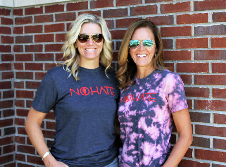 As mothers, entrepreneurs and business owners Brandy Smith and Kelly Schlechte recognize the importance of promoting and living by the No Hate message. Photo: Courtesy Of Local 618