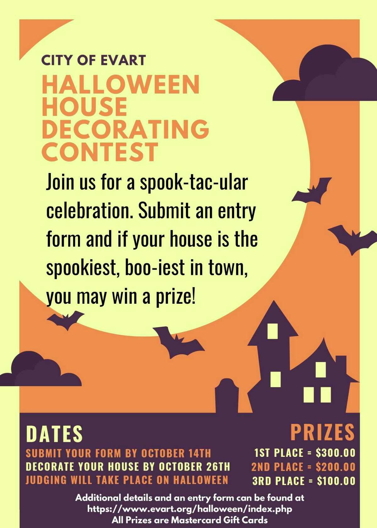 Evart residents are invited to participate in a Halloween house decorating contest for a chance to win prizes. For more information visit evart.org. (Submitted photo)
