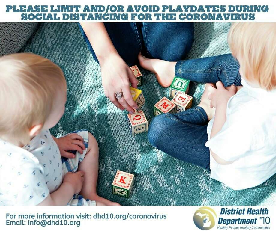 DHD#10 recommends limiting or avoiding playdates to prevent the spread of the coronavirus. (Infographic from DHD#10 website)