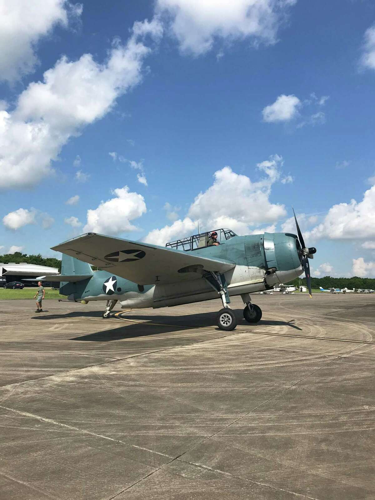 This TBM Avenger returns to Lone Star Flight Museum on Friday, Oct. 2, after a restoration. The aircraft is modeled after