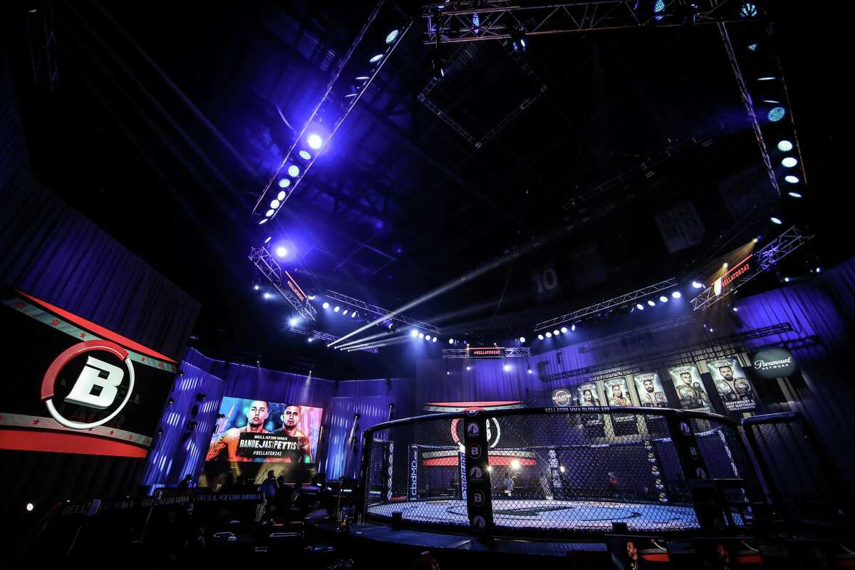 The Mohegan Sun setting for cage fights televised without fans.