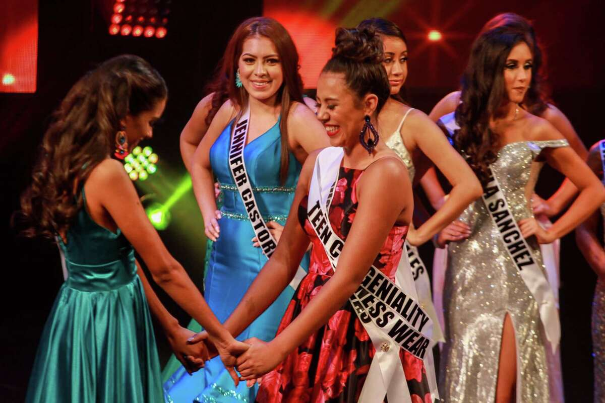 The Miss Houston Latina pageant at AD Players in Houston on August 17, 2019. The contestants wore their heritage outfits, evening gowns, and showed off the self discovery and growth they have built over the season