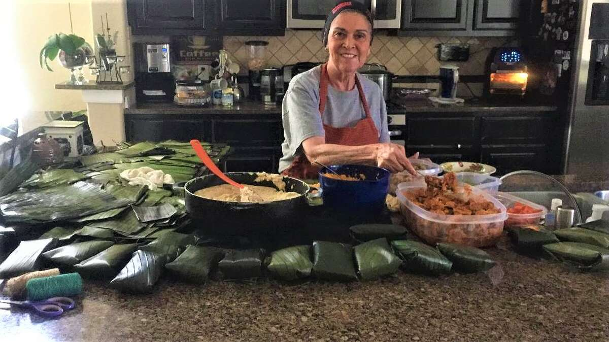 My tia Letty Ramirez from Costa Rica prides herself on making the best tamales for her family during the holidays.