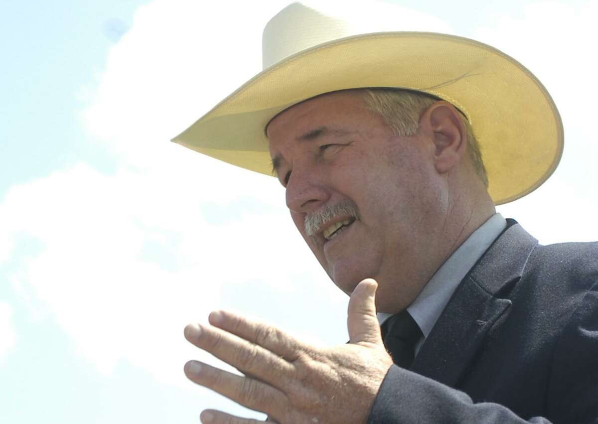 Hank Gilbert, the Texas Democratic party nominee for Texas Agriculture Commissioner, unveiled his energy diversity and bio-fuel policy at a press conference in Beaumont Tuesday. Dave Ryan/The Enterprise