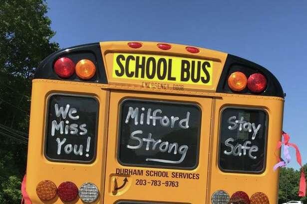 Crystal Zimmerman prepares to make one last run before COVID-19 closed Milford schools last March.