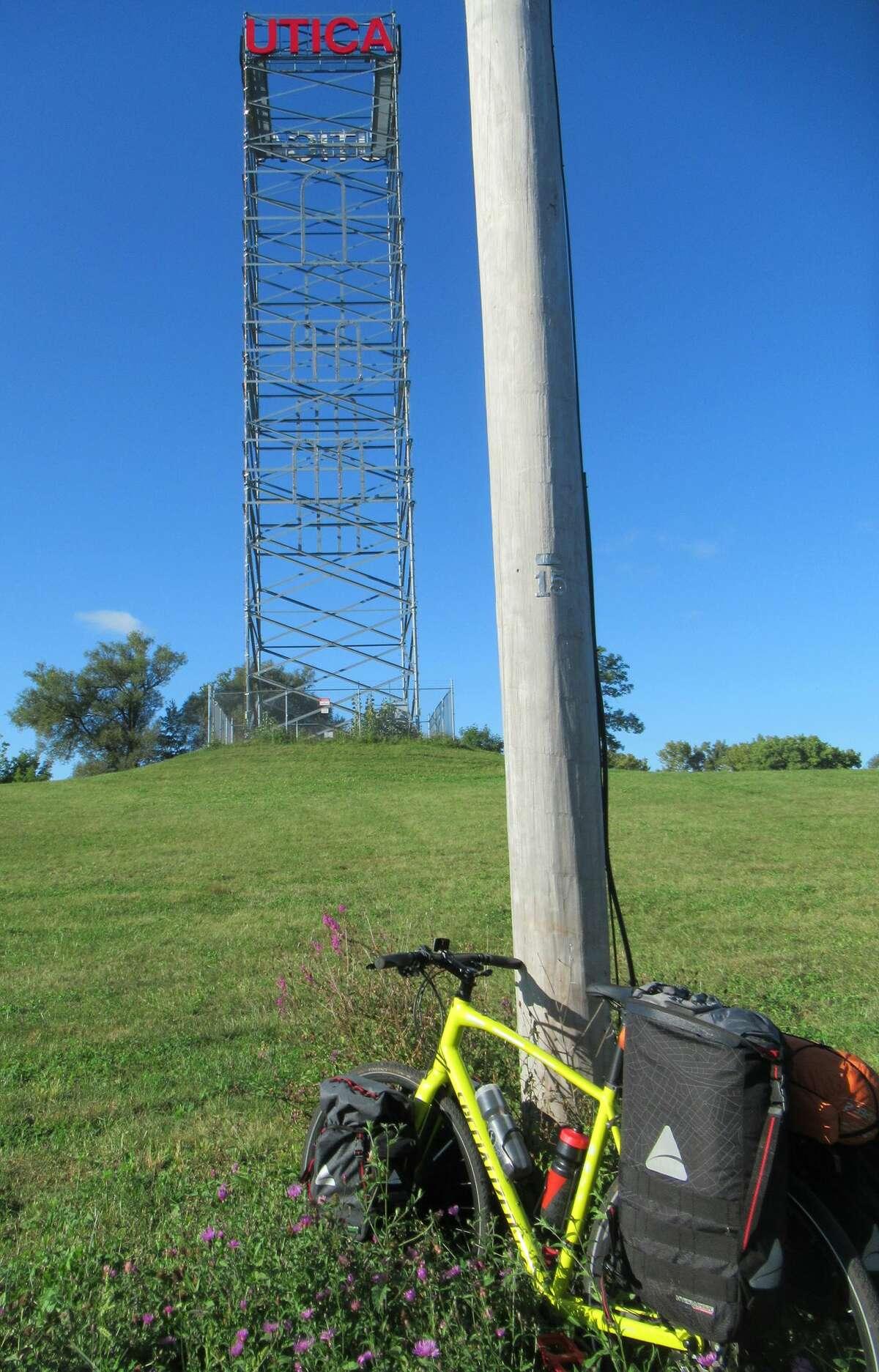 Taking a break near Utica before losing the Empre Trail. (Herb Terns / Times Union)