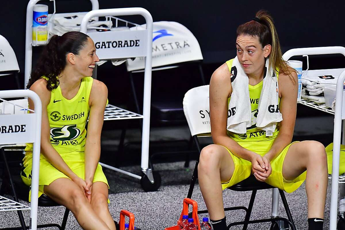 Sue Bird (left) and Breanna Stewart both have won title with UConn, Team USA and the Seattle Storm.