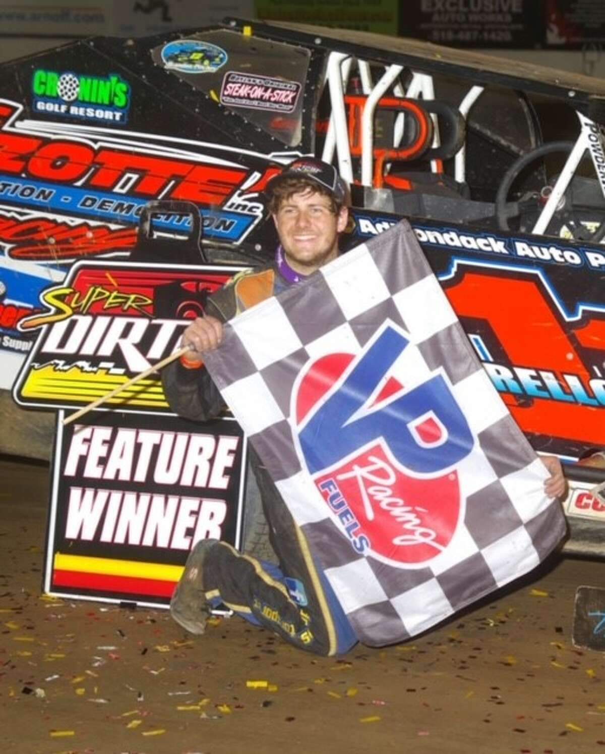 Demetrios Drellos won the Sportsman Modified points title at Devil's Bowl Speedway. (Courtesy of Mark Brown Photography)