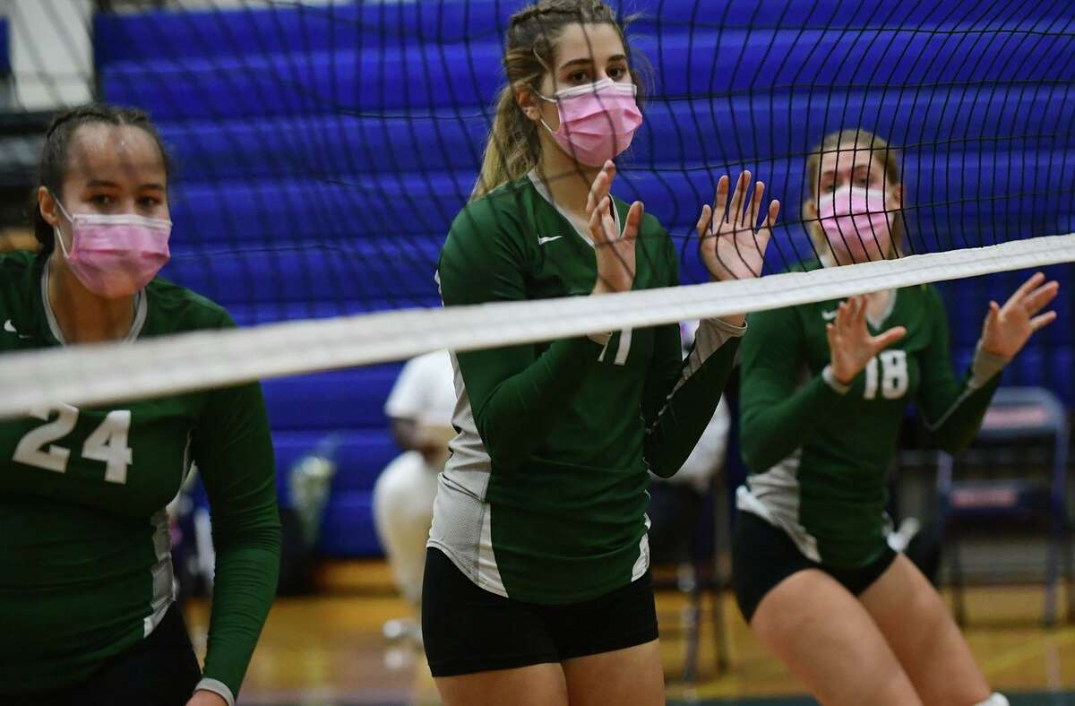 The Norwalk High School Bears girls volleyball team takes on The Brien McMahon High School Senators during their intracity game Thursday, October 1, 2020, at Brien McHahon in Norwalk, Conn.