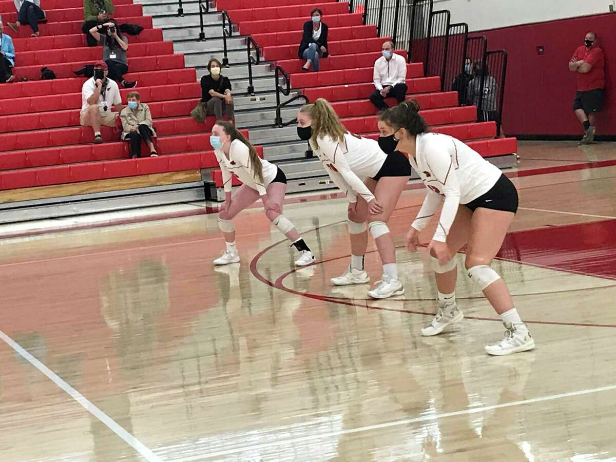The Greenwich and J.M. Wright Technical school volleyball teams began their season on Thursday, October 1, 2020, in Greenwich, Connecticut.
