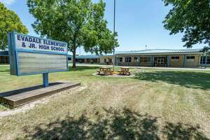 Evadale Elementary/ Junior High School has been closed for cleaning and sanitation. The Evadale Independent School District closed all campuses Tuesday due to a student testing postive for the coronavirus. Photo made on August 18, 2020. Fran Ruchalski/The Enterprise