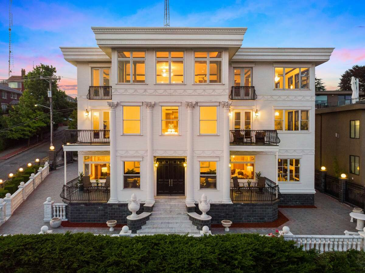 The home, built in 1902, has 5 bedrooms and 7.25 baths.