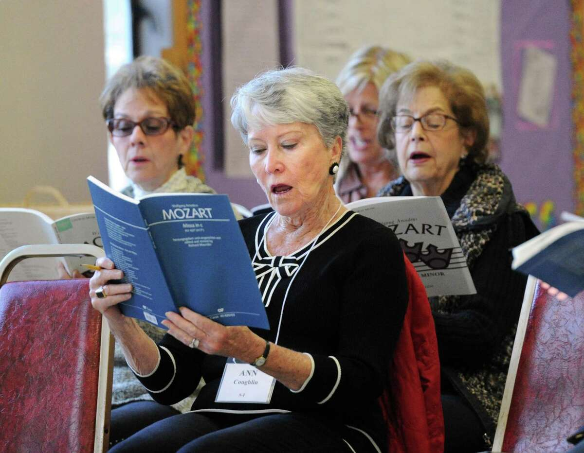 The Greenwich Choral Society rehearses at St. Paul's Episcopal Church in the Riverside section of Greenwich, Conn.