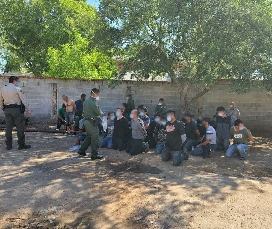 In a joint effort by the U.S. Border Patrol and the Webb County Sheriff's Office, a stash house was shut down Thursday which was housing 39 individuals. Photo: Courtesy /U.S. Border Patrol