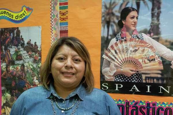 Lilia Romero, Lee High Spanish teacher 10/01/2020. Tim Fischer/Reporter-Telegram