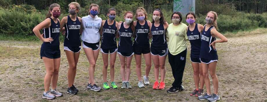 Mimi Coghlan (captain), Grace McCormack, Kelly Dougherty, Kelly Jones, Maggie Willer, Kate Backus (captain), Brooke Jones, Emily Lmaphier, Laurel Micholovich and Carys Cook took the course for Lauralton in its opener. Photo: Lauralton Hall Athletics / Contributed Photo / Milford Mirror