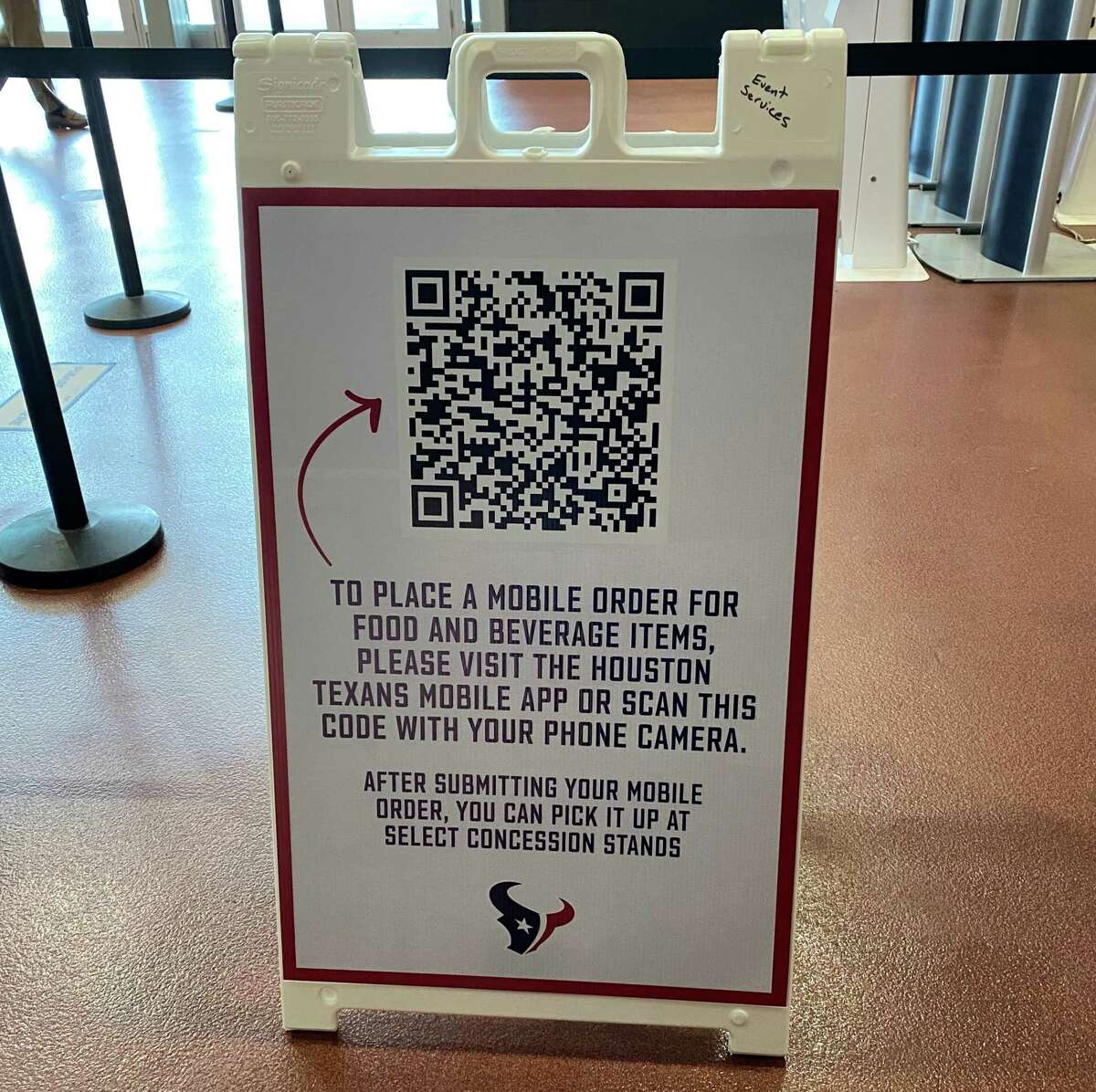 Fans will be able to order concessions from their phones at Texans games at NRG Stadium in 2020.