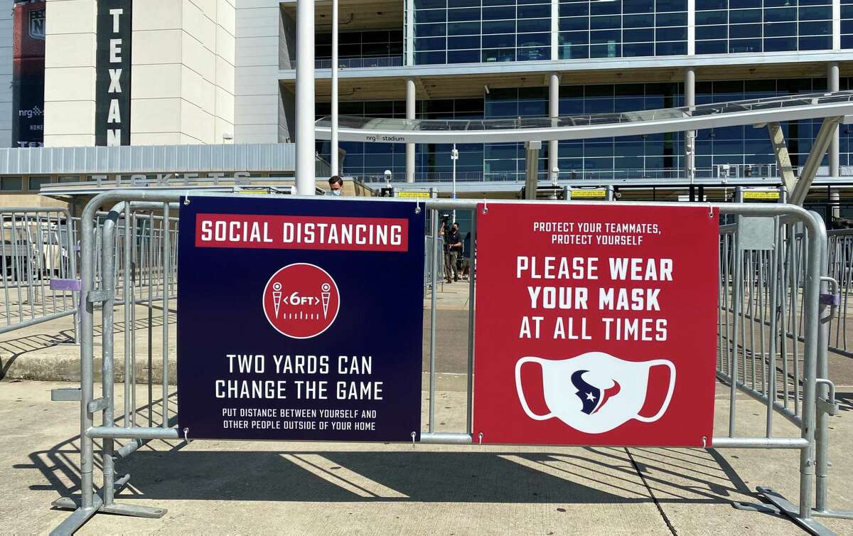 PHOTOS: A look what fans will see inside NRG Stadium this season Fans will be greeted at the NRG Stadium gates with the rules they must follow when they attend Texans games in 2020.