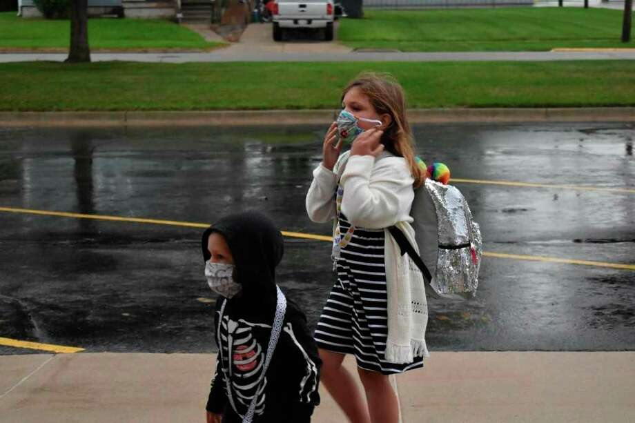 According to Superintendent Shawn Bishop, Harbor Beach School is working hard to adapt to the continuing changes made due to the coronavirus pandemic, including evaluating additional space within the school to utilize as the weather get colder and assist elementary students transitioning to classroom mask requirements. (Paige Withey/Huron Daily Tribune)
