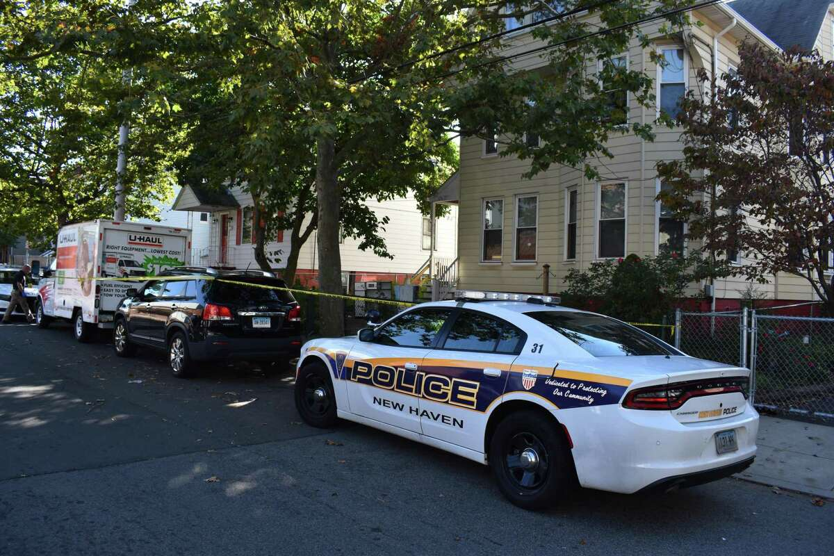 New Haven police investigated a homicide on Exchange Street Thursday morning.