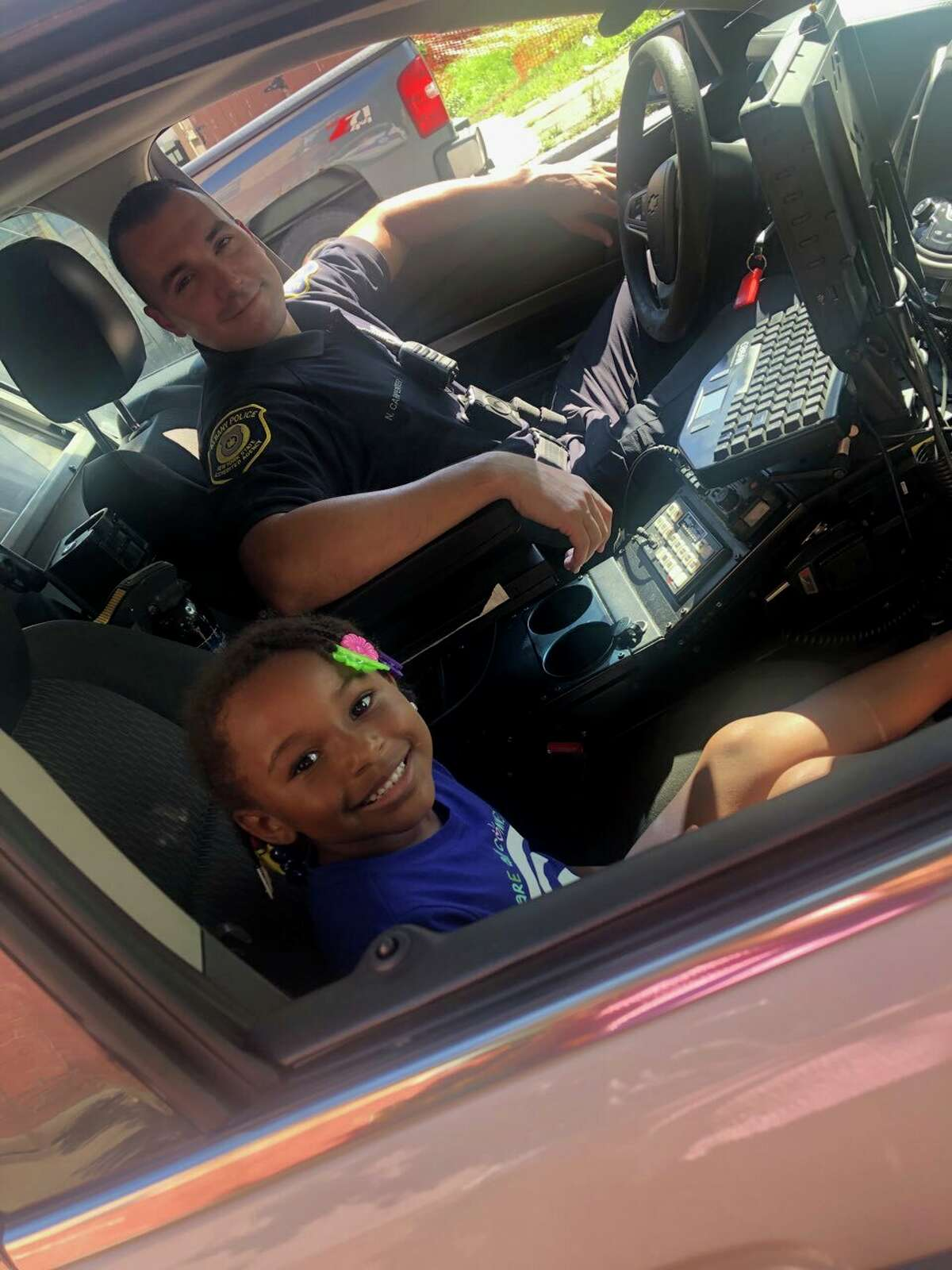 Albany Officer Nick Carpenter sees Forever Mason - and many other south end residents - on a near-daily basis.