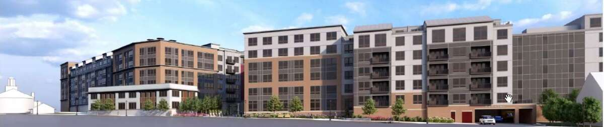 A rendering shows the view of The Pinnacle from Butler Street. The plans for the final phase of the Waypointe development went before the Norwalk Zoning Commission on Thursday night.