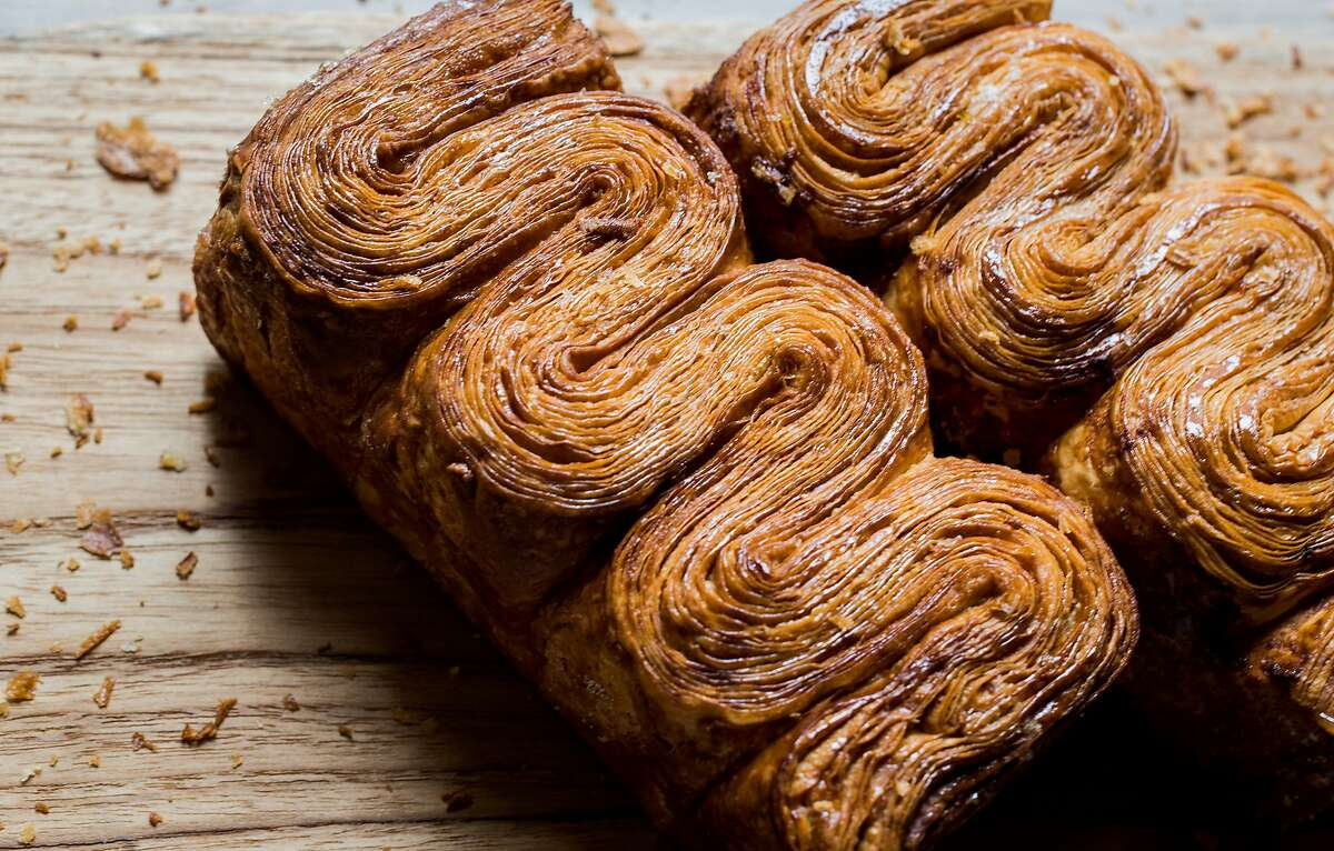 Brioche feuilletée is a flaky, laminated pastry using buttery brioche dough from Maison Nico, opening this fall in San Francisco.