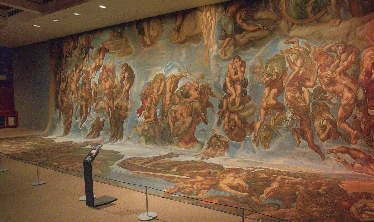"""""""Hollywood's Sistine Chapel: Sacred Sets for Stage & Screen,"""" an exhibit at the McNay Art Museum, features six backdrops used in the film """"The Shoes of the Fisherman."""""""