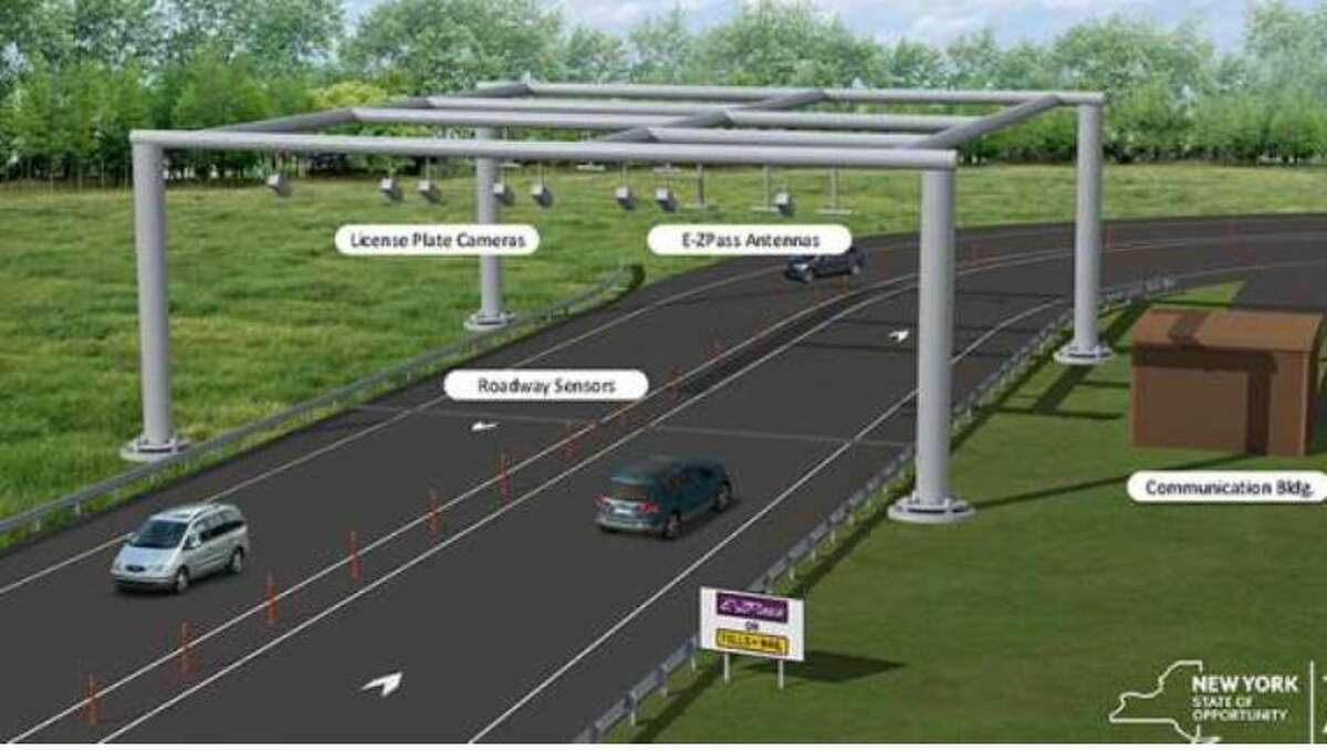 A rendering of the gantries which have been installed across the state.