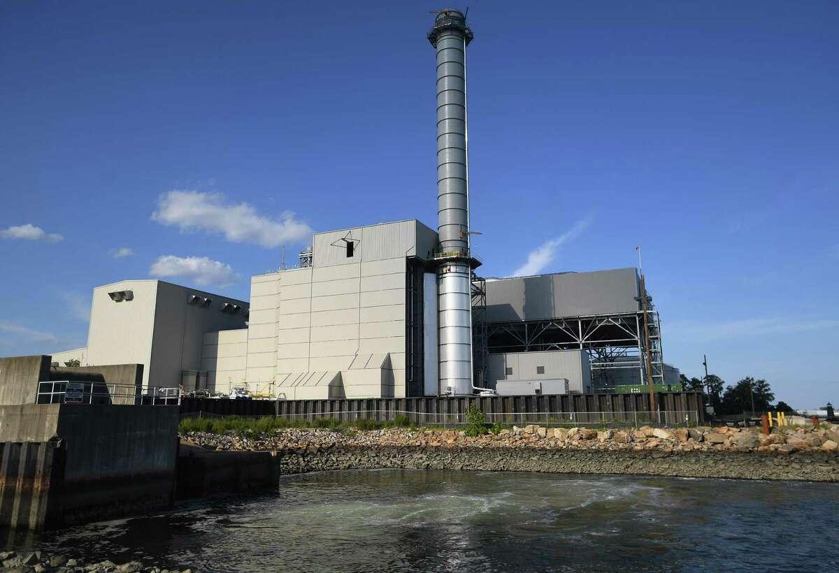 A recently built power plant in Bridgeport.