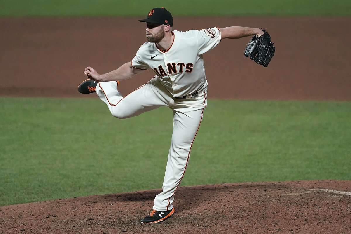 Giants reliever Sam Coonrod was inconsistent before he ended the season with a key blown save and a shoulder strain.