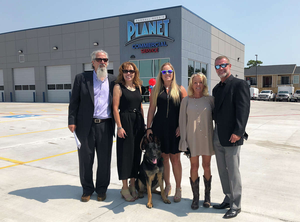 From left are John Centner, GM of Randall Reed's Planet Ford in Humble and Randall Reed's Commercial Service; Lee Centner (John's wife); Shelby Reed, president of Reed Family Enterprises and owner of Randall Reed's Planet Ford in Humble and Randall Reed's Commercial Service; Sherry Reed, owner of Randall Reed's Planet Ford in Humble and Randall Reed's Commercial Service; andRandall Reed, CEO of Reed Family Enterprises and owner of Randall Reed's Planet Ford in Humble and Randall Reed's Commercial Service.