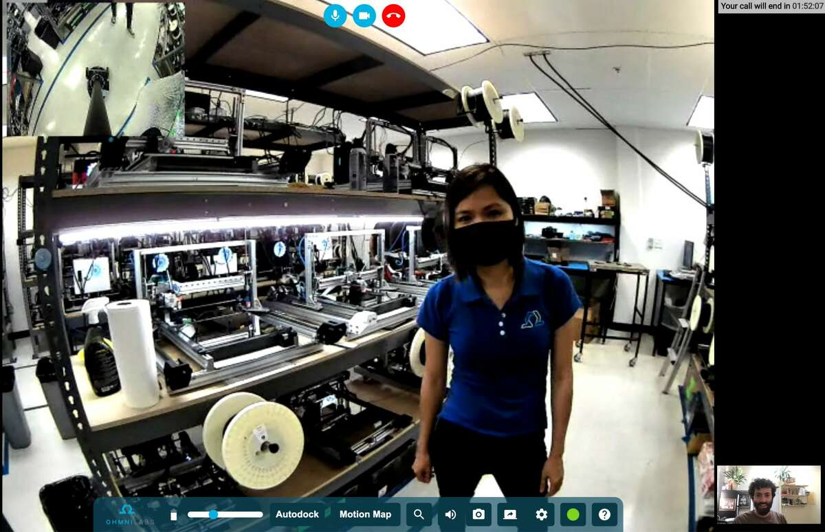 My test drive of the Telepresence Robot took me around the OhmniLabs factory floor, equipped with dozens of 3D printers that construct their signature robot.