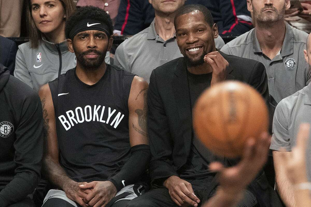 Are All-Stars Kyrie Irving, left, and Kevin Durant going to make things tough for incoming Nets coach Steve Nash next season?