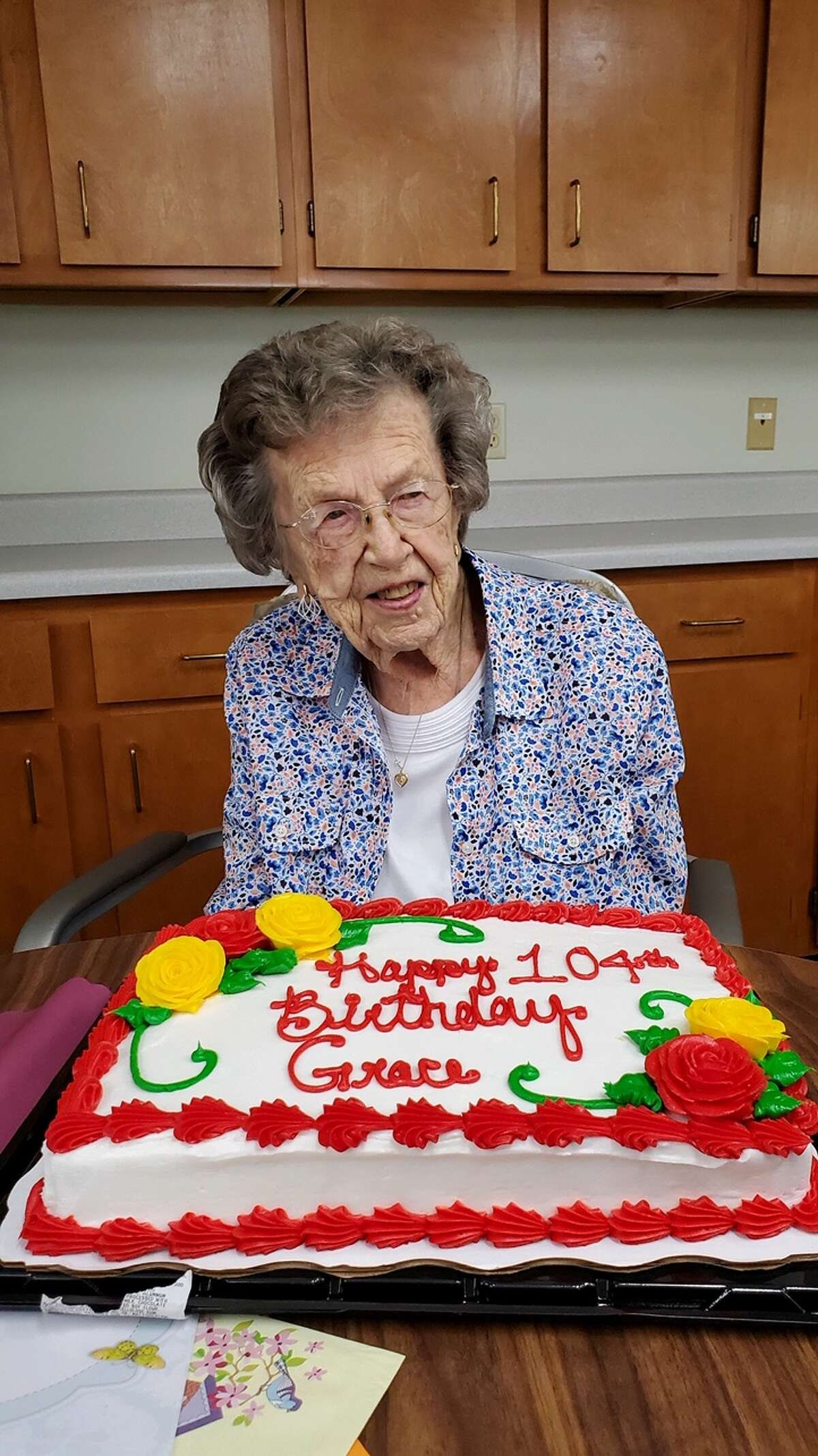 Colonie Senior Service Centers resident Grace Freer, recently turned 104 years old. The center said it prides itself that Grace is an original resident to Sheehy Manor, moving in over two decades ago, and that she is still living independently.