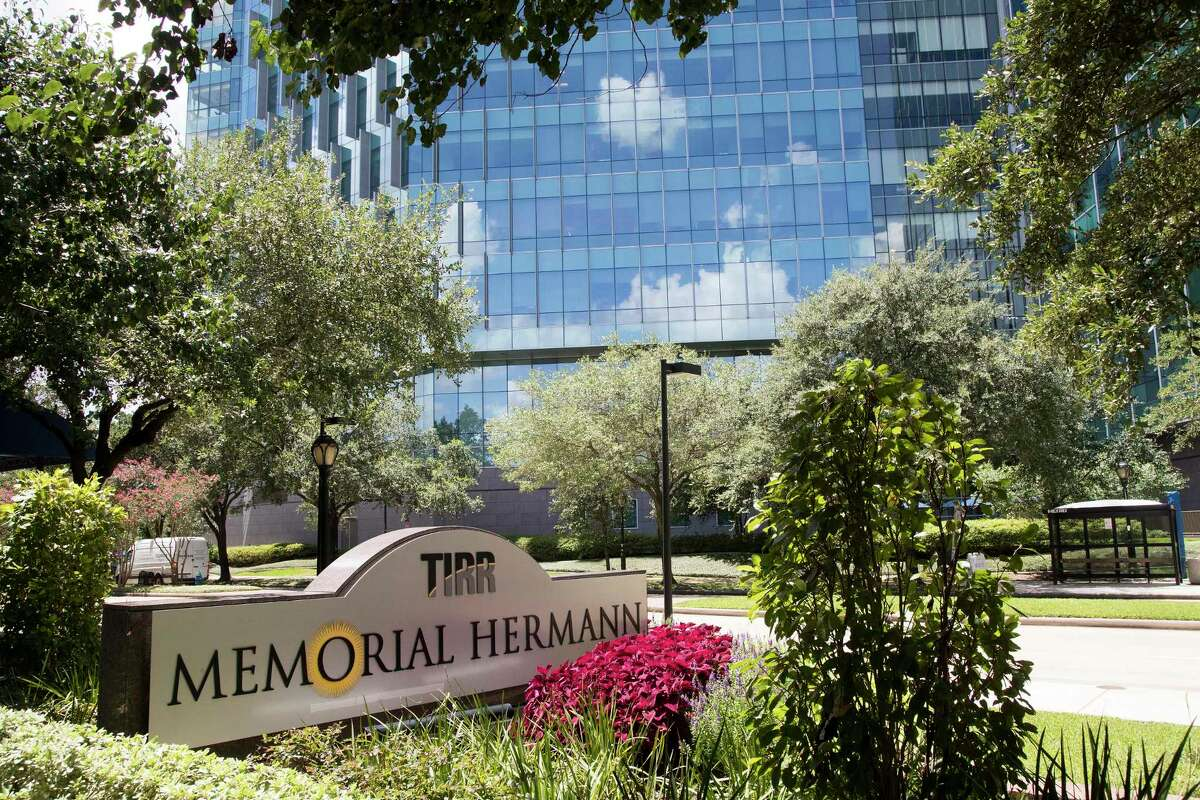 The front entrance signage at TIRR Memorial Hermann is shown on Thursday, July 23, 2020 in Houston.
