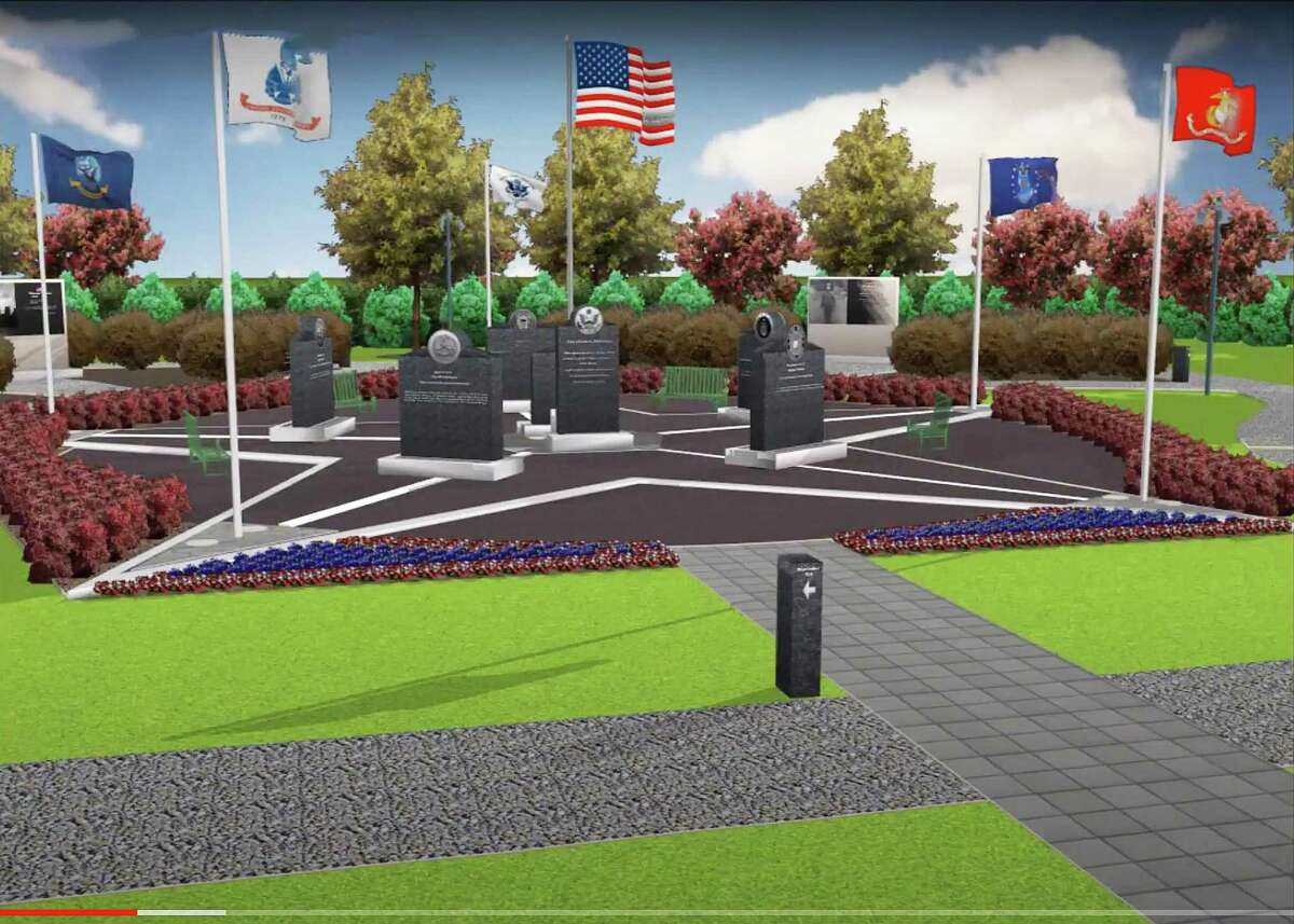 An artist's rendering of the proposed Veteran's Memorial at Bridgeland. A walking tour video of the memorial can be found on YouTube by clicking on the search box and typing in Bridgeland Veteran Memorial.