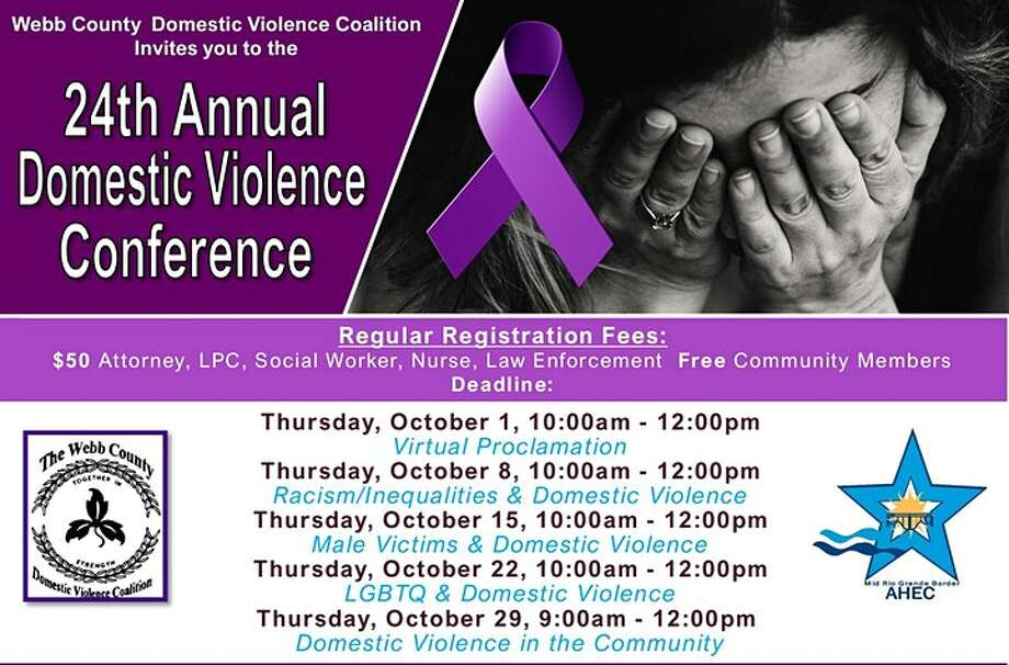 The Webb County Domestic Violence Coalition and various agencies across Laredo announced the beginning of the 24th annual Domestic Violence Conference through a Zoom meeting that was and will continue to be free and open for the public. Photo: Courtesy Photos