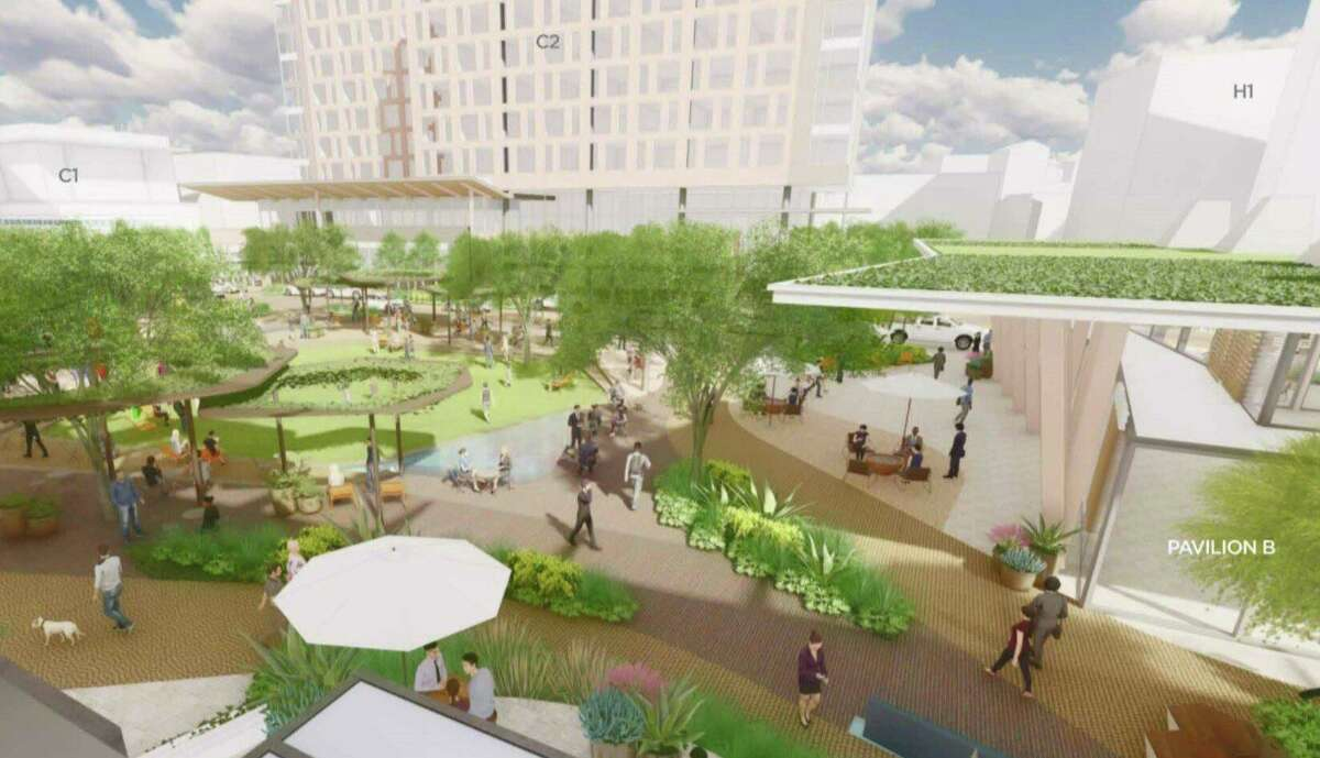 Renderings presented to the Midtown Tax Increment Reinvestment Zone board show elements of Broadway East, a mixed-use development GrayStreet Partners and Midway are teaming up on.