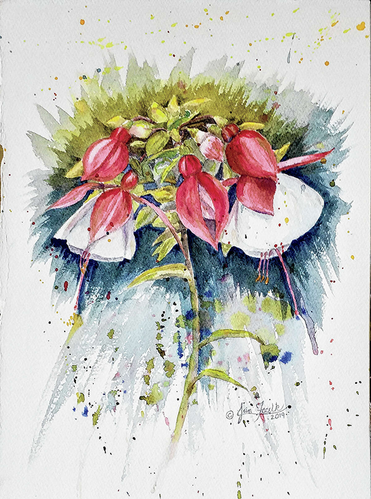 """Jan Foulk's """"Fabulous Fuchsia"""" is among her pieces that will be displayed during October's Strawn gallery exhibit."""