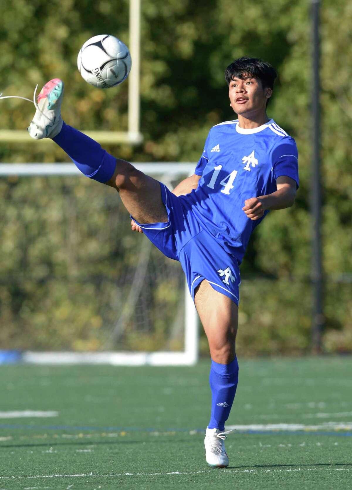 Abbott Tech took on New Milford in boy soccer Thursday.