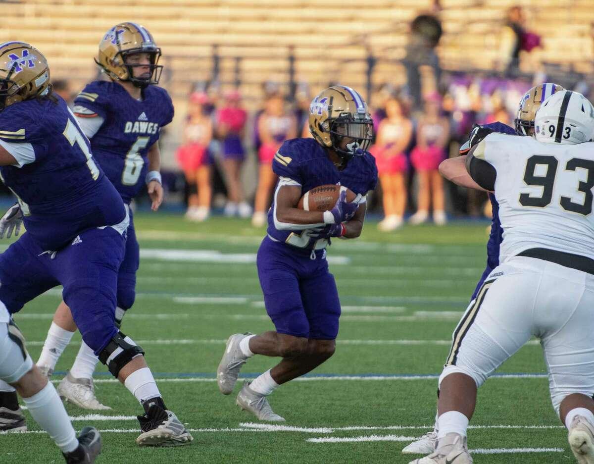Midland High's Daniel Garcia runs the ball Friday, Oct. 2, 2020 at Grande Communications Stadium. Jacy Lewis/Reporter-Telegram