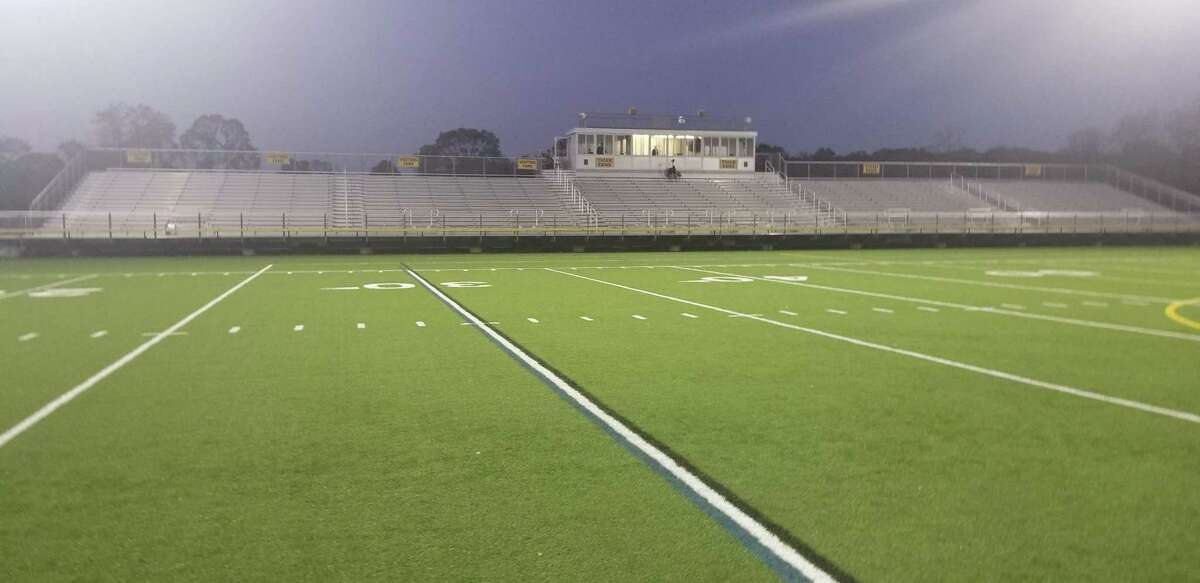 The Surf Club in Madison sits empty at halftime of the Hand-Guilford boys soccer season opener Friday. No spectators were allowed in due to the COVID-19 pandemic.